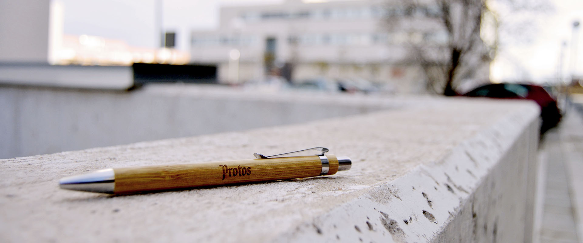 Bolígrafo para publicidad de Bodegas Protos