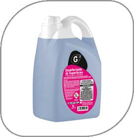 Garrafa de producto desinfectante profesional para empresas